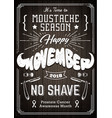 movember poster vintage design vector image