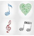 musical note icons vector image vector image