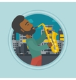 Musician playing saxophone vector image