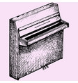 old piano vector image