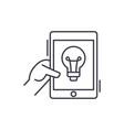 online idea line icon concept online idea vector image vector image