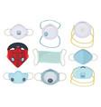 protection mask protective medical respiratory vector image