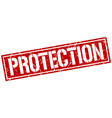protection square grunge stamp vector image vector image