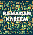 Ramadan kareem icons set of arabianseamless vector image