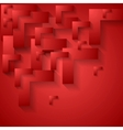 Red geometry corporate background vector image vector image