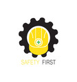 safety helmet logo vector image