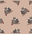 seamless pattern with adult and baby koalas vector image