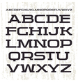 Serif font in retro racing style vector image vector image