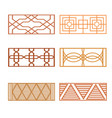 set different fence design vector image
