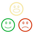 set of smile emoticons isolated on white vector image
