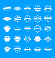 shield badge icons set simple style vector image vector image