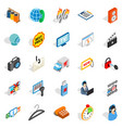 shop icons set isometric style vector image