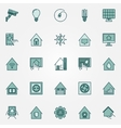 Smart home colorful icons set vector image