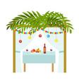 sukkah for the sukkot holiday jewish tent to vector image vector image