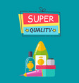 super quality poster and title vector image vector image