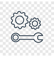 technical support concept linear icon isolated on vector image