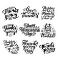 thanksgiving holiday calligraphy lettering vector image vector image