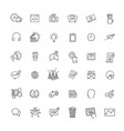 thin line icons set icons for marketing vector image