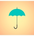 umbrella icon on orange background vector image vector image