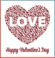 Valentine Heart in Three Dimensional Style vector image vector image
