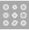 White abstract circles with drop shadow background vector image vector image