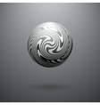 Black and White Opt Art Sphere vector image