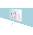 Wall plug vector image