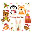 set of new year characters vector image