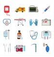 Ambulance icons set vector image vector image