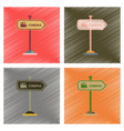 assembly flat shading style icons cinema sign vector image