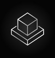 augmented reality cubes silver icon in thin vector image vector image
