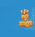 back to school horizntal background vector image