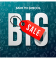 back to school sale banner design for store vector image