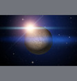 background of space with unknown planet vector image