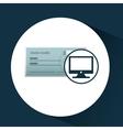 bank check template icon graphic