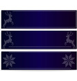 banners with deers vector image vector image