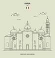 basilica santa giustina in padua italy vector image vector image