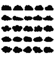 Black clouds vector image