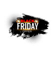 black friday sale banner weekend shopping label vector image vector image