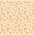 bright seamless pattern symbols landmarks and vector image vector image