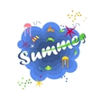 bright summer poster vector image vector image