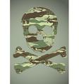 camouflage skull applique vector image vector image
