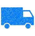 Cargo Van Grainy Texture Icon vector image vector image