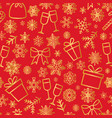 Christmas icons seamless pattern happy winter