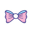 colorful ribbon bow fashion decoration design vector image vector image