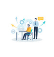 concept technical support business vector image vector image