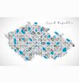 czech republic map crystal diamond style artwork vector image
