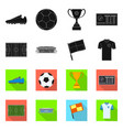 design soccer and gear symbol vector image vector image