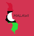 detailed malawi map vector image vector image