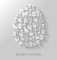 easter cet egg flat vector image vector image
